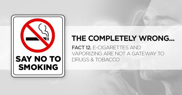 E-Cigarettes and Vaporizing Are Not a Gateway to Drugs & Tobacco