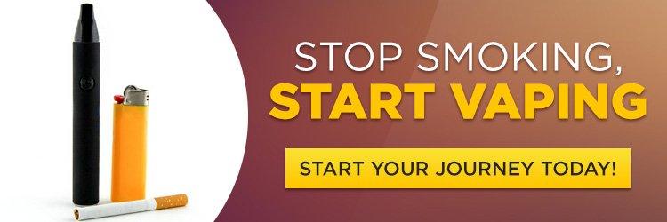 Stop Smoking Start Vaping Banner