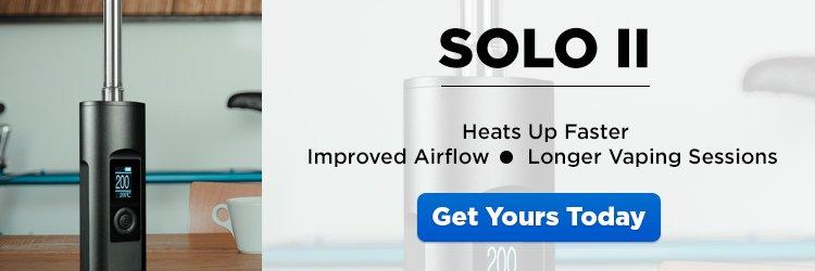 Arizer Solo II Portable Dry Herb Vaporizer - CTA
