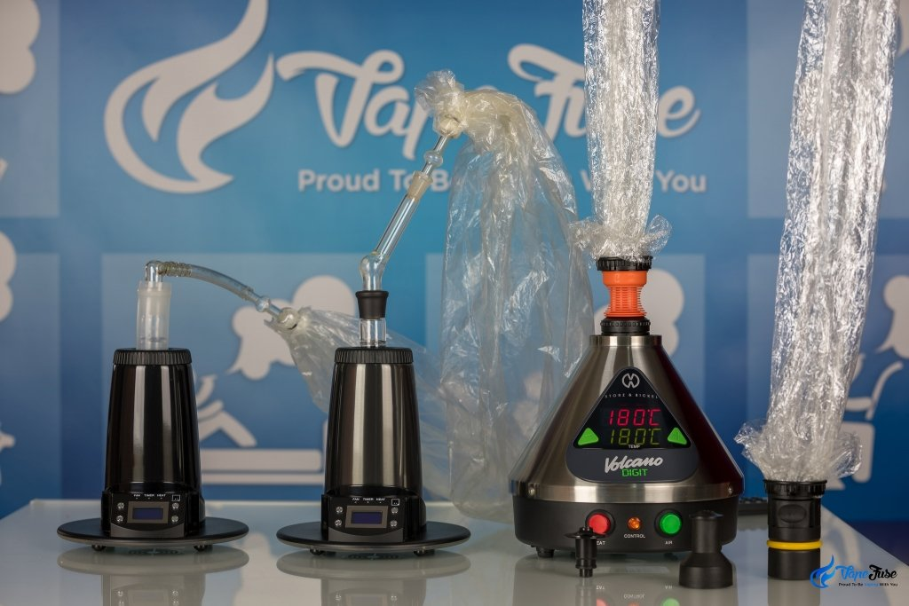 Arizer Extreme Q Vaporizers + Volcano Digit with balloon options