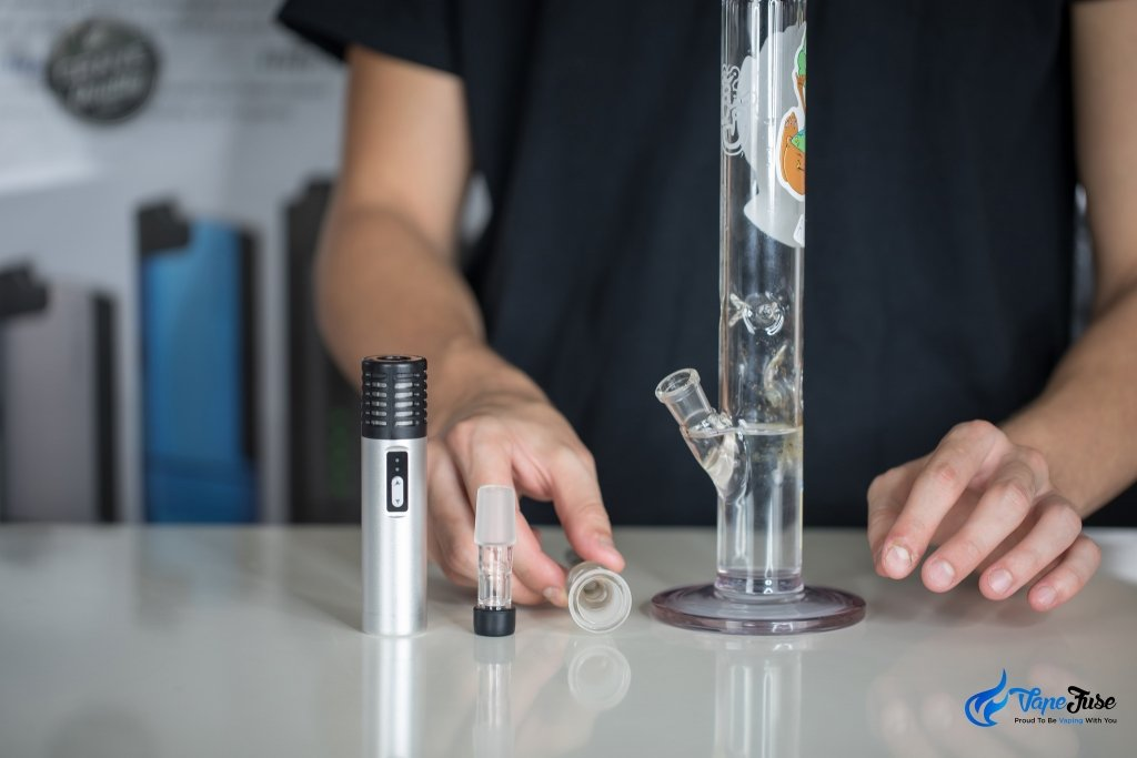using a water pipe with your portable vape - Arizer Air Portable Vaporizer
