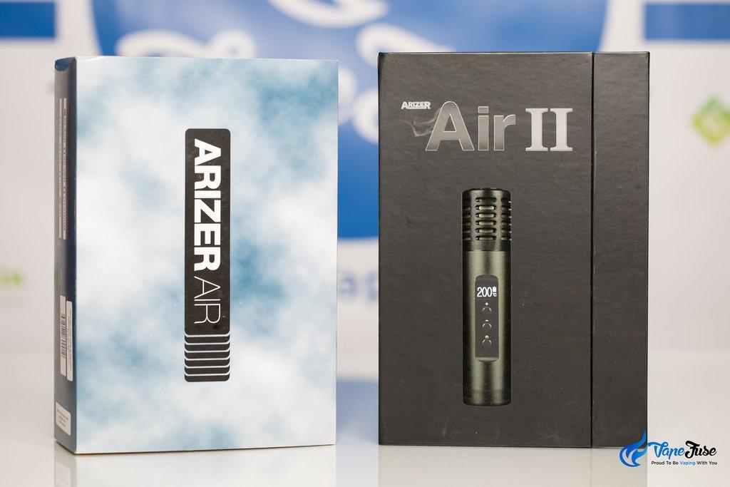 Arizer Air vs Arizer Air II Packaging