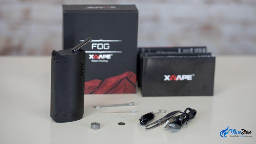 X Vape FOG Portable Vaporizer inclusions