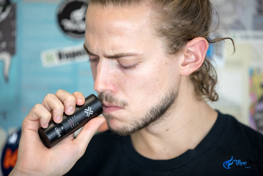 Crave Cloud Portable Vape in use