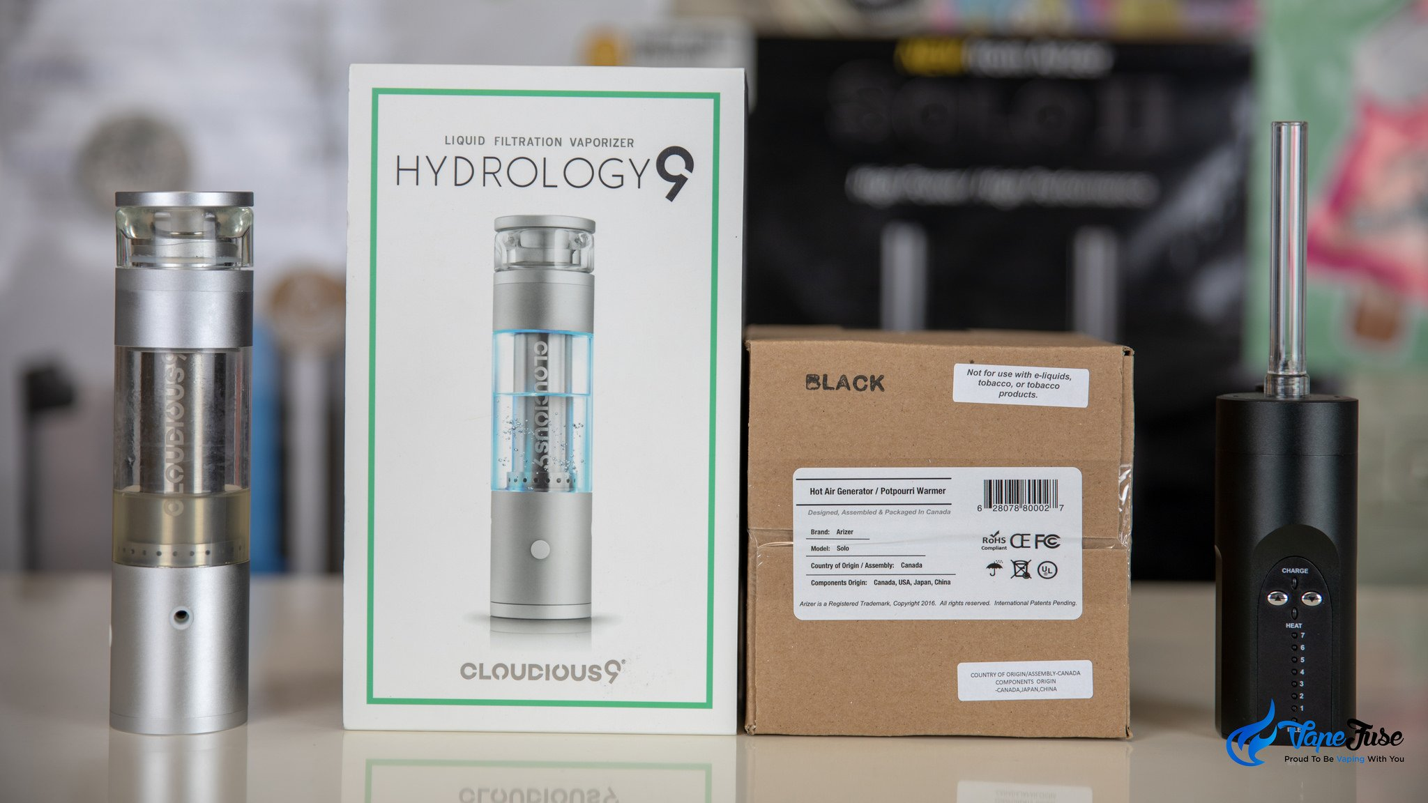 Arizer Solo vs. Hydrology9 boxes